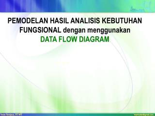 PEMODELAN HASIL ANALISIS KEBUTUHAN FUNGSIONAL  dengan menggunakan  DATA FLOW DIAGRAM