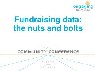 Fundraising data: the nuts and bolts