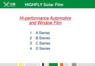 HIGHFLY Solar Film