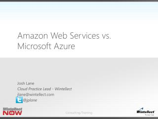 Amazon Web Services vs. Microsoft Azure