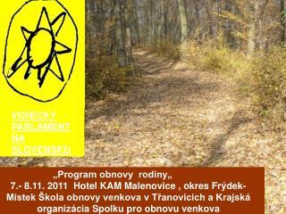 VIDIECKY PARLAMENT NA SLOVENSKU