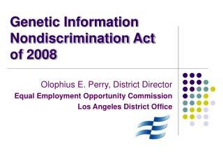 Genetic Information Nondiscrimination Act of 2008
