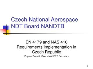 Czech National Aerospace NDT Board NANDTB