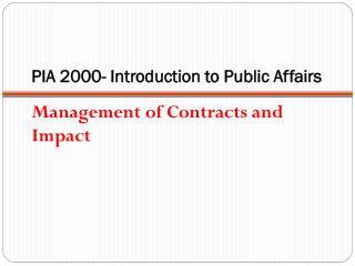 PIA PIA  2000- Introduction to Public Affairs