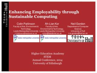 Enhancing Employability through Sustainable Computing