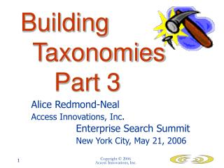 Building 			Taxonomies 		Part 3