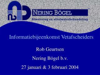 Informatiebijeenkomst Vetafscheiders