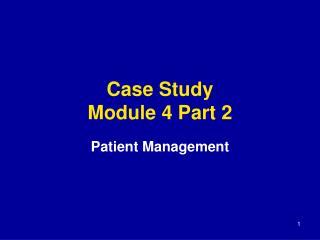 Case Study Module 4 Part 2