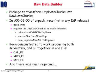 Raw Data Builder