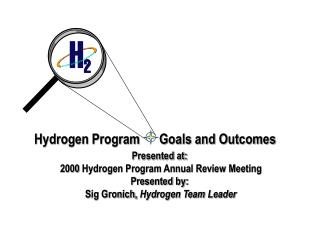 Hydrogen Program      Goals and Outcomes