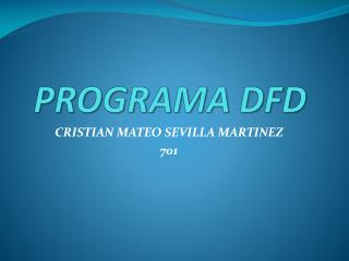 PROGRAMA DFD