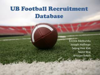 UB Football Recruitment Database