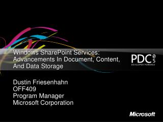 Windows SharePoint Services: Advancements In Document, Content, And Data Storage