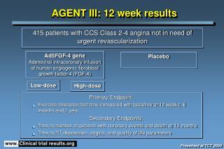 AGENT III: 12 week results