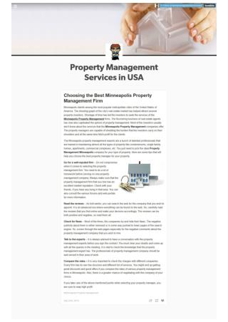 Choosing Minneapolis Property Management Company