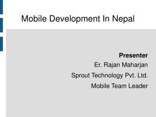 Mobile Development In Nepal