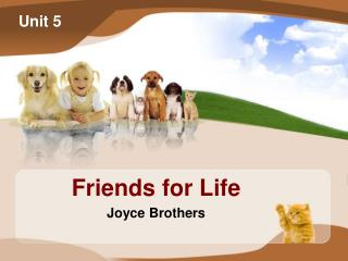 Friends for Life Joyce Brothers