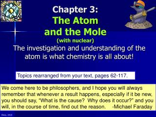 Chapter 3: The Atom and the Mole (with nuclear)
