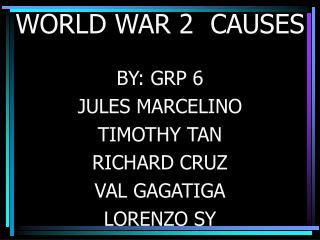 WORLD WAR 2  CAUSES