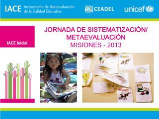 JORNADA DE SISTEMATIZACIÓN/ METAEVALUACIÓN MISIONES - 2013
