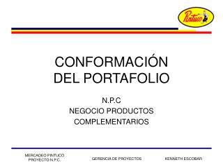 CONFORMACI�N DEL PORTAFOLIO
