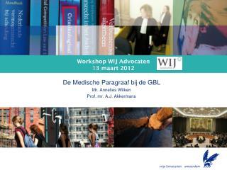 Workshop WIJ Advocaten 13 maart 2012