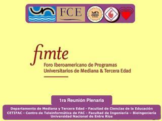 Departamento de Mediana y Tercera Edad - Facultad de Ciencias de la Educación
