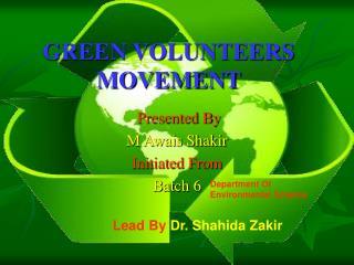 GREEN VOLUNTEERS MOVEMENT