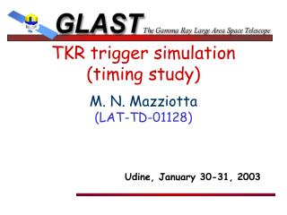 TKR trigger simulation (timing study)