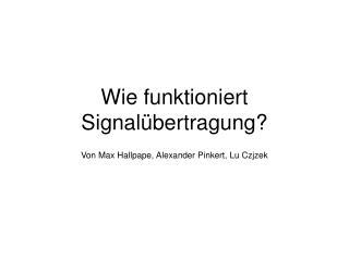 Wie funktioniert Signalübertragung?