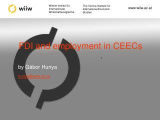 FDI and employment in CEECs