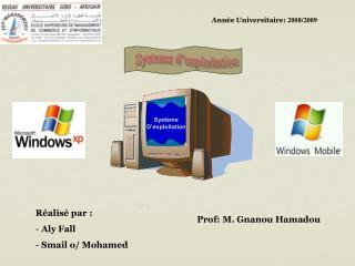 Année Universitaire:  2008/2009