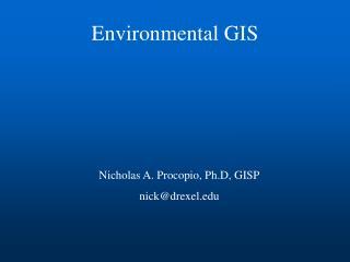 Environmental GIS