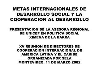 COOPERACION AL DESARROLLO DESVINCULADA DE LOS ACUERDOS POLITICOS