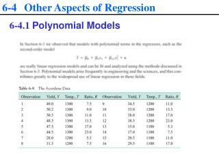 6-4  Other Aspects of Regression