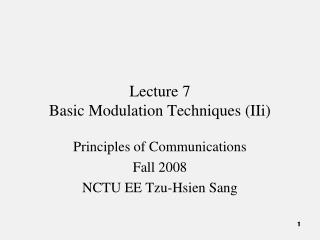 Lecture 7 Basic Modulation Techniques (IIi)