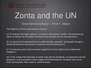Zonta and the UN