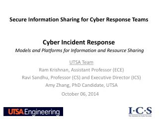 Cyber Incident Response Models and Platforms for Information and Resource Sharing