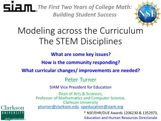 Modeling across the Curriculum The STEM Disciplines