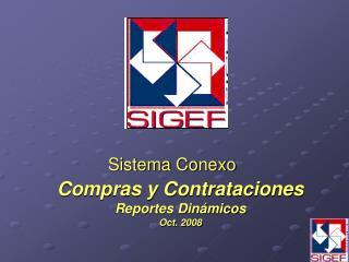 Compras y Contrataciones Reportes Dinámicos Oct. 2008