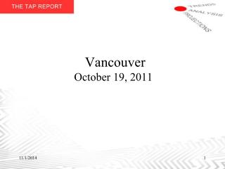 Vancouver October 19, 2011