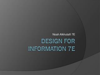 Design for Information 7E
