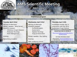 AMS Scientific Meeting April 2014 Brisbane, Queensland