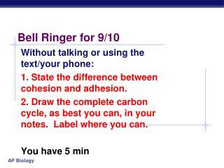 Bell Ringer for 9/10