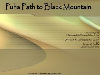 Puha Path to Black Mountain