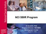 NCI SBIR Program