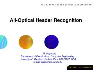All-Optical Header Recognition