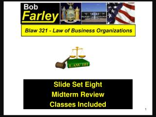 Slide Set Eight Midterm Review Classes  Included