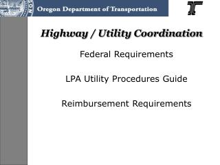 Highway / Utility Coordination