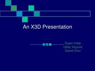 An X3D Presentation